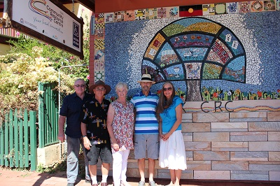 Mosaic Wall with artists and installers